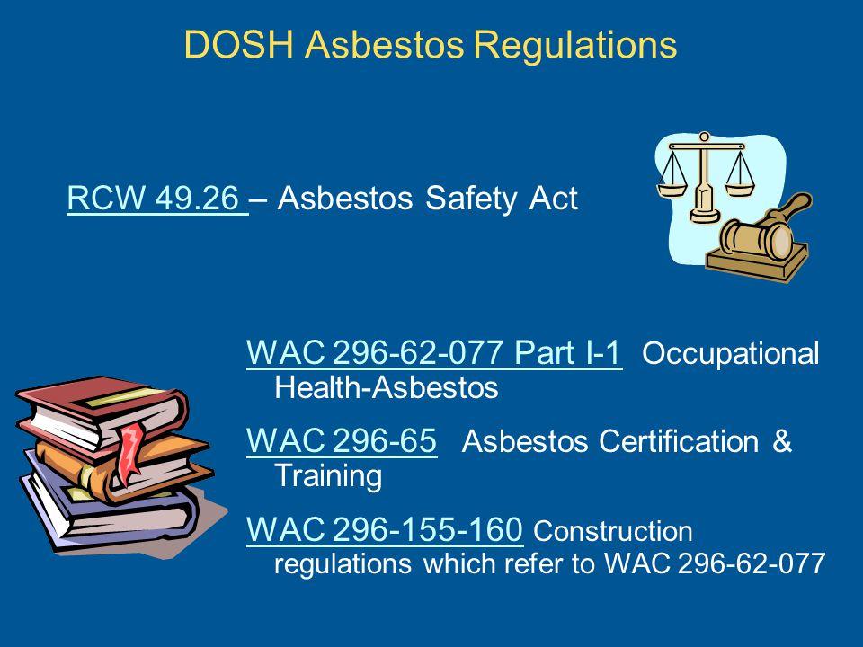 DOSH Asbestos Regulations