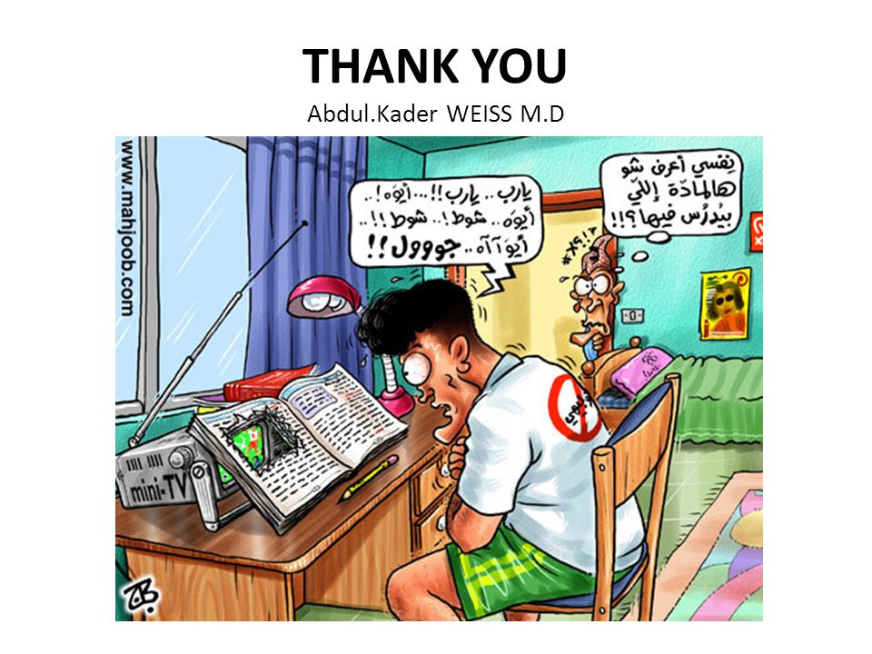 THANK YOU Abdul.Kader WEISS M.D