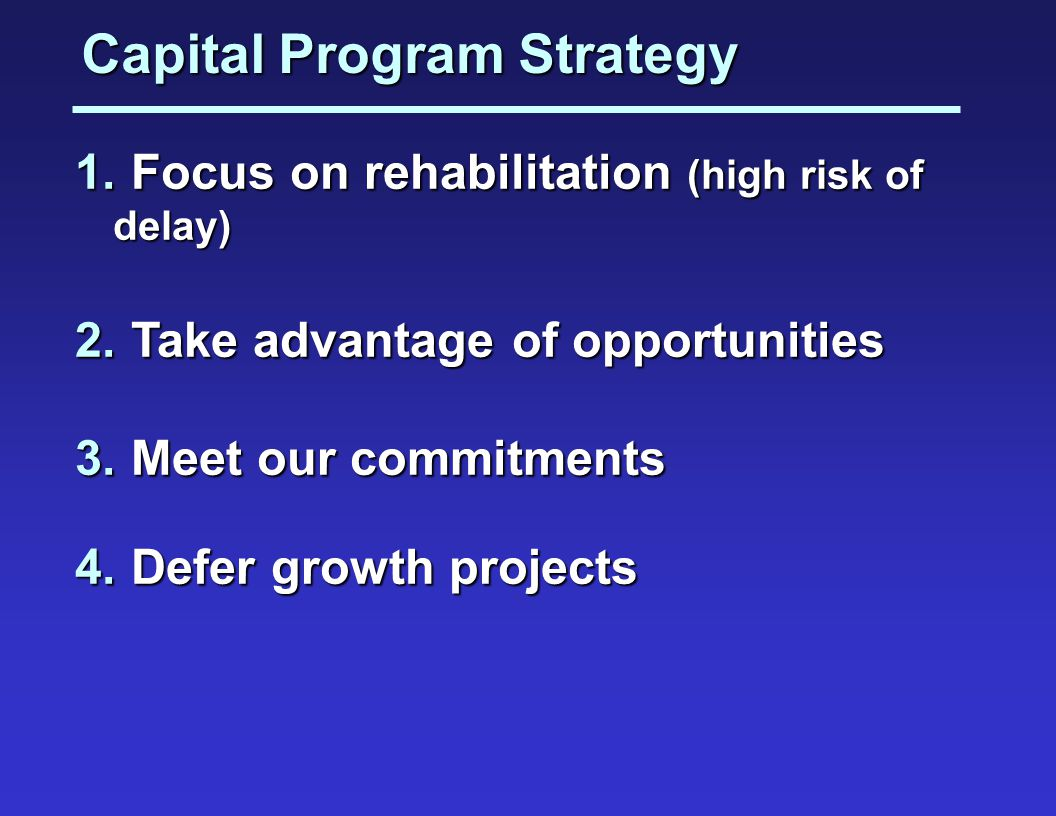 Capital Program Strategy