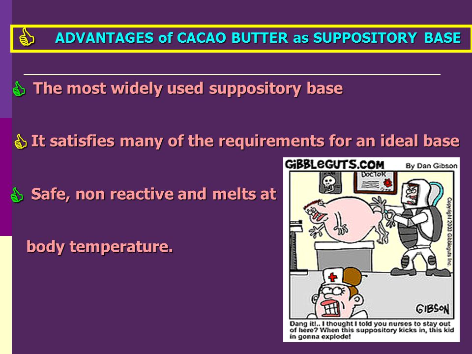     The most widely used suppository base