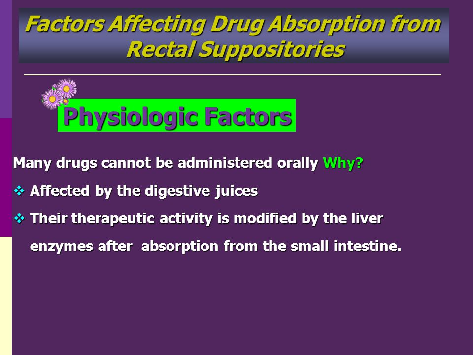 Factors Affecting Drug Absorption from