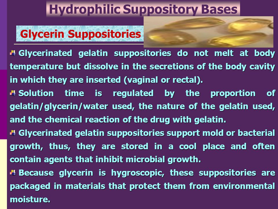 Hydrophilic Suppository Bases