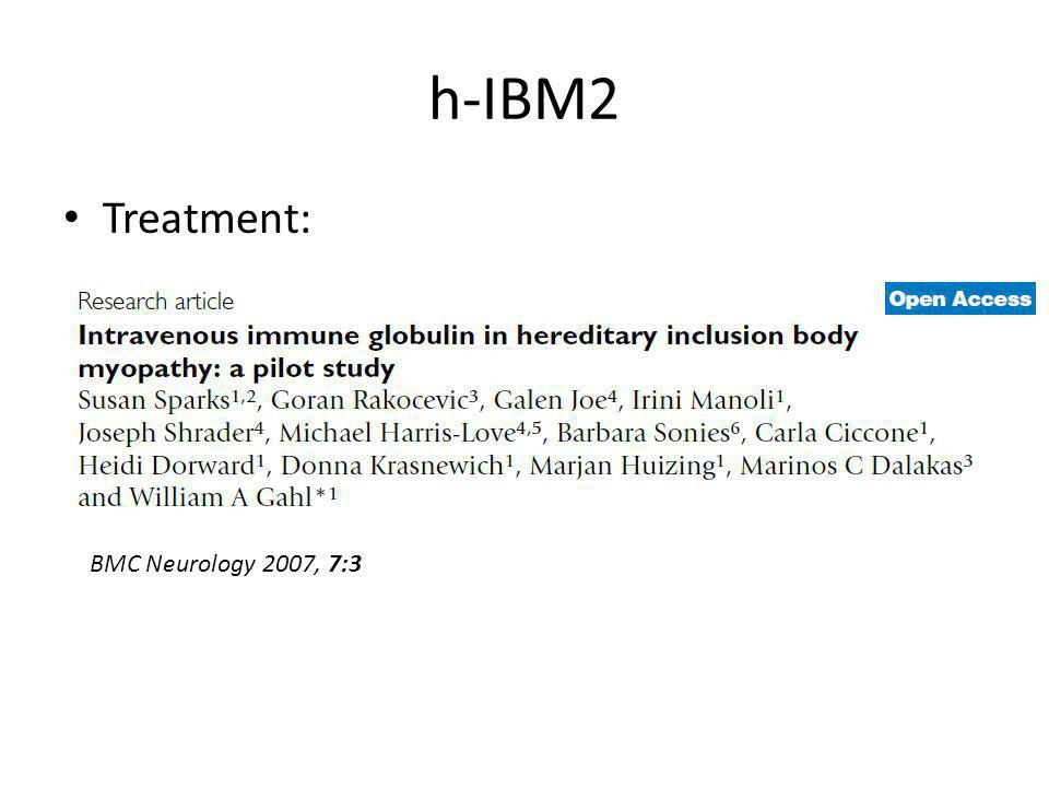 h-IBM2 Treatment: BMC Neurology 2007, 7:3