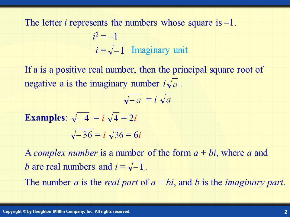 Definition: Complex Number