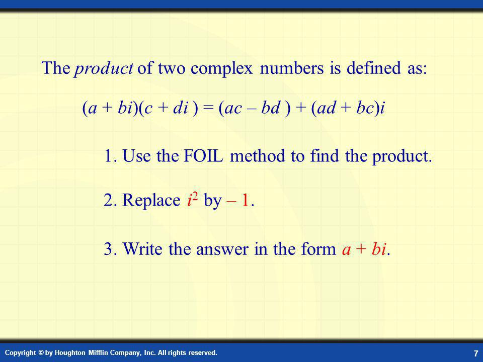Product of Complex Numbers