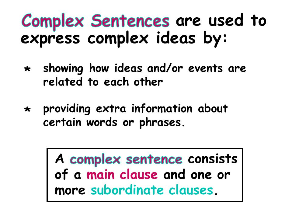 are used to express complex ideas by:
