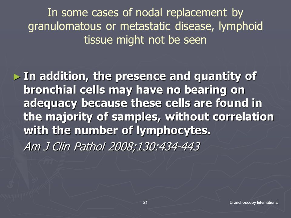 In some cases of nodal replacement by granulomatous or metastatic disease, lymphoid tissue might not be seen