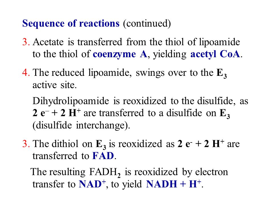 Sequence of reactions (continued)