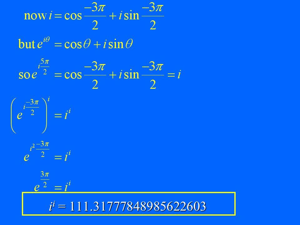 ii = 111.31777848985622603