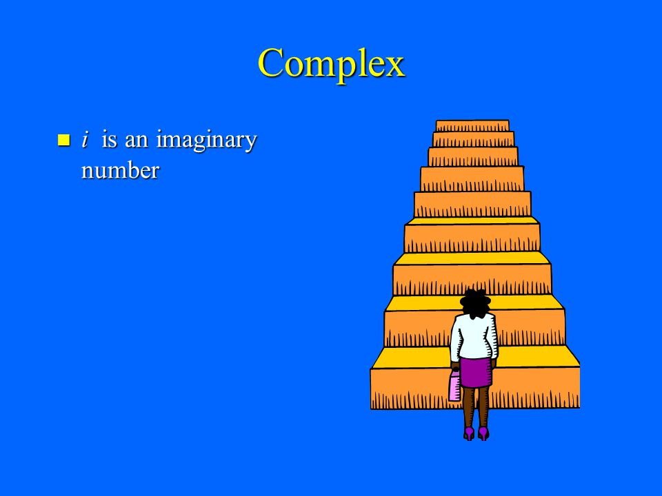 Complex i is an imaginary number