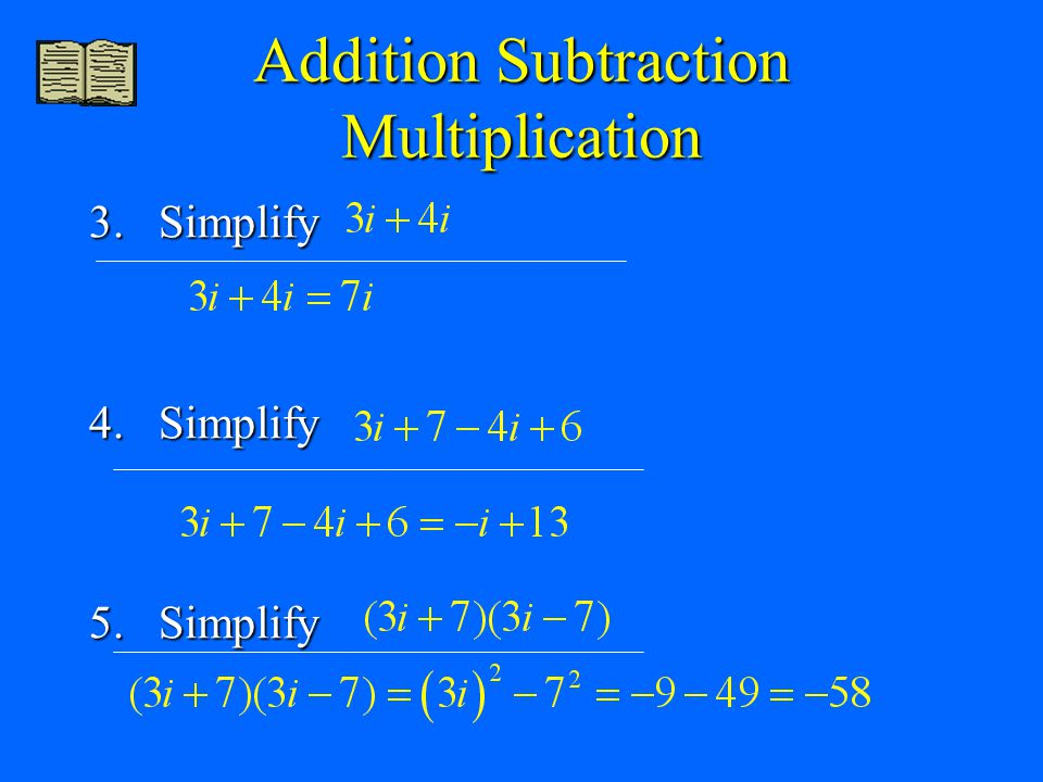 Addition Subtraction Multiplication