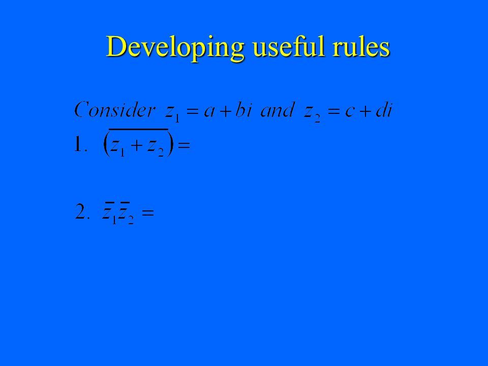 Developing useful rules