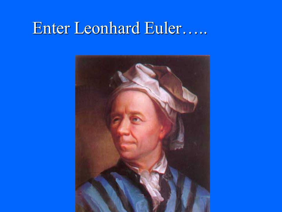 Enter Leonhard Euler…..