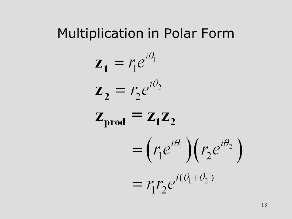 Multiplication in Polar Form
