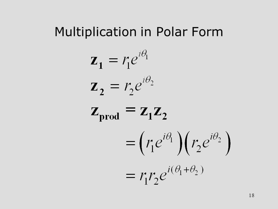 Multiplication in Polar Form