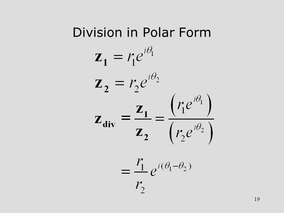 Division in Polar Form