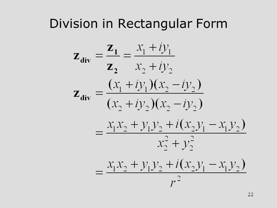 Division in Rectangular Form