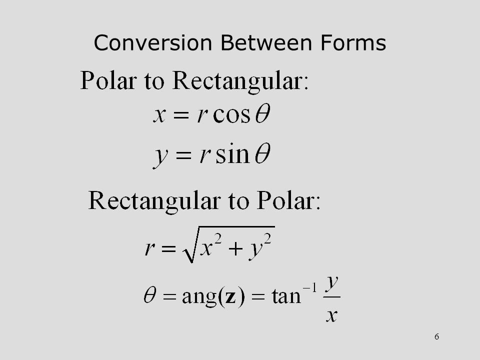 Conversion Between Forms