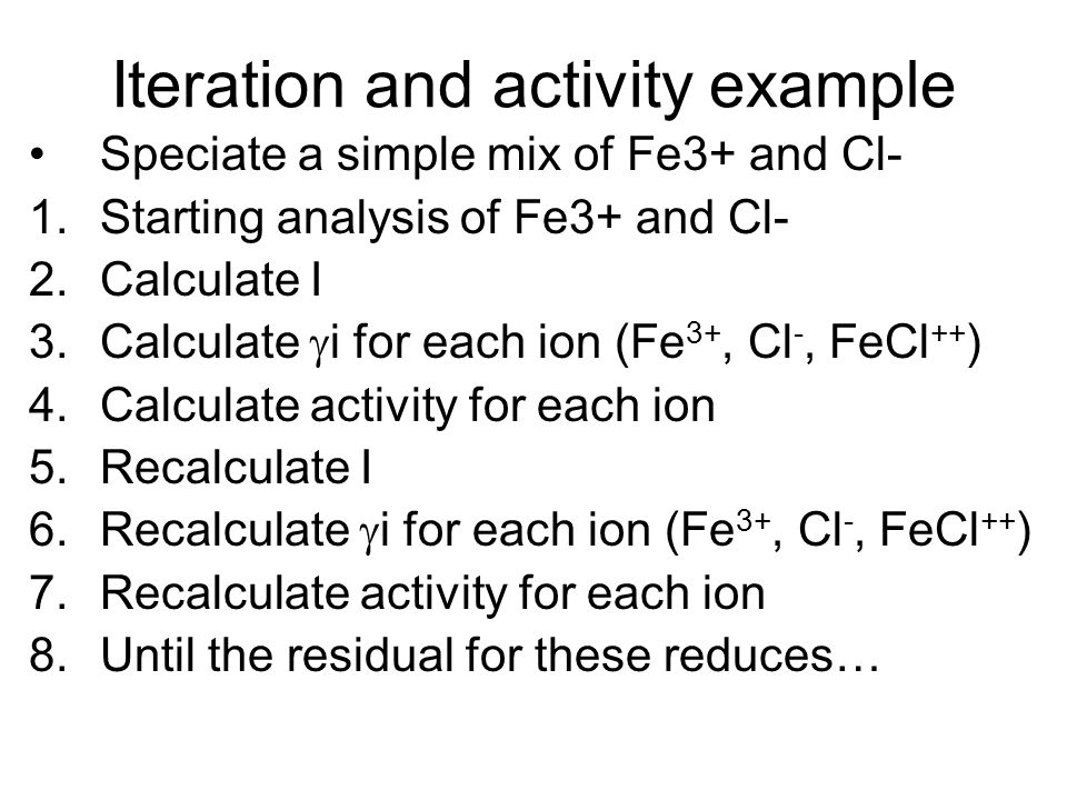 Iteration and activity example