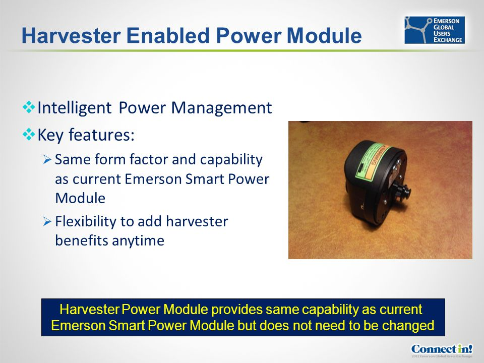 Harvester Enabled Power Module