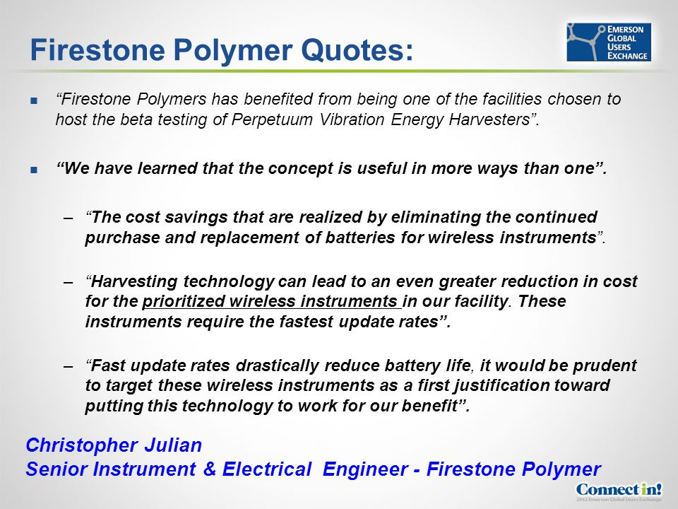 Firestone Polymer Quotes: