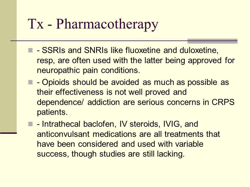 Tx - Pharmacotherapy