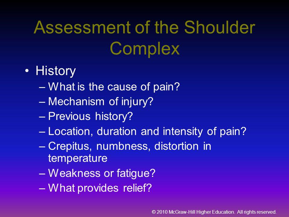 Assessment of the Shoulder Complex