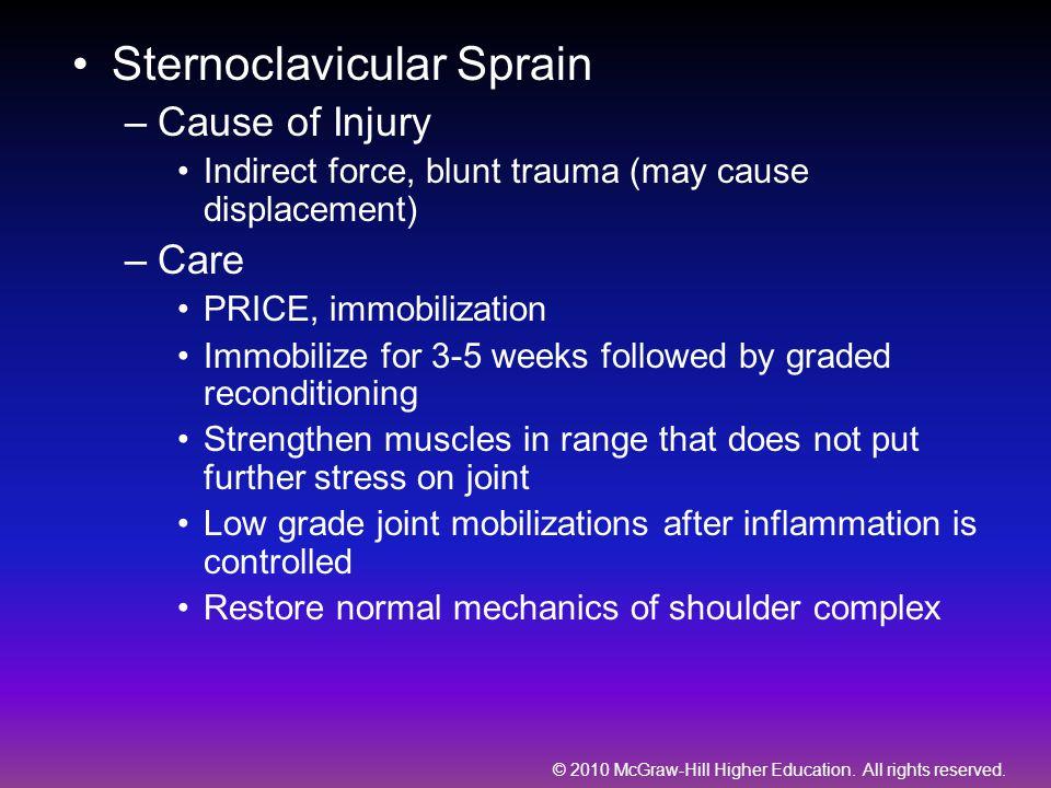 Sternoclavicular Sprain
