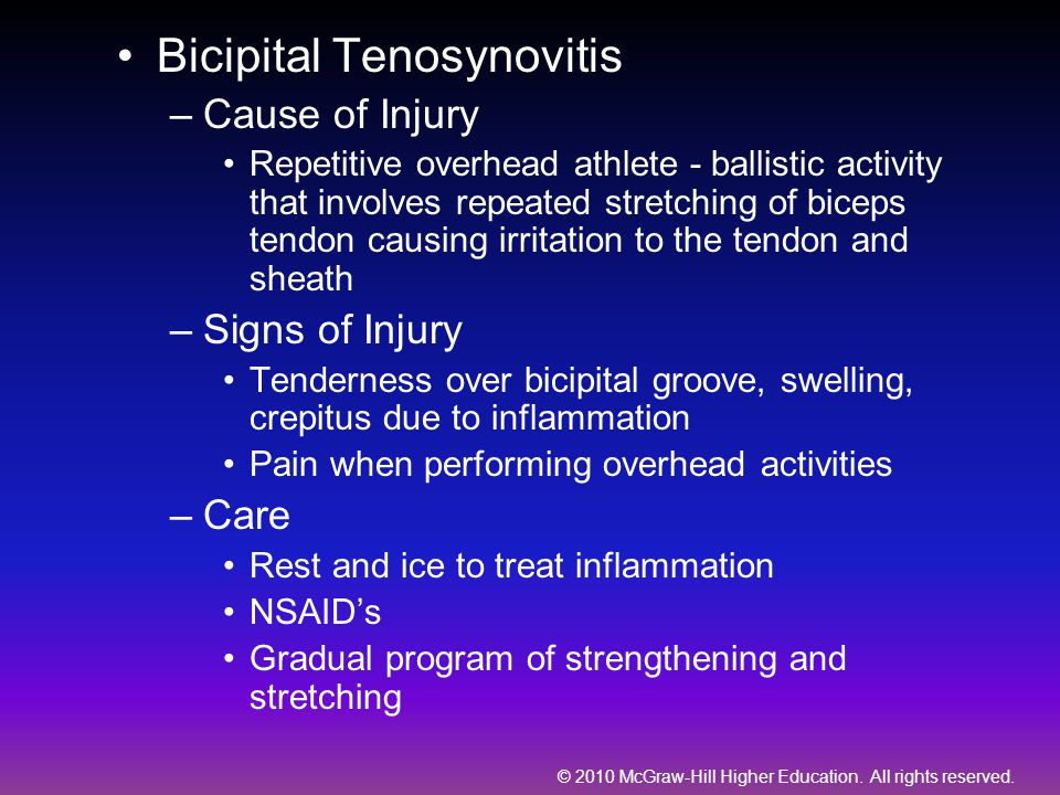Bicipital Tenosynovitis