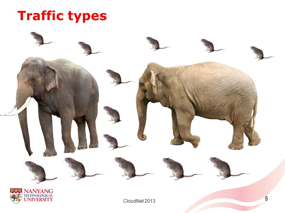 Traffic types Elephant flow - 100KB of transfer over the last 5 seconds.