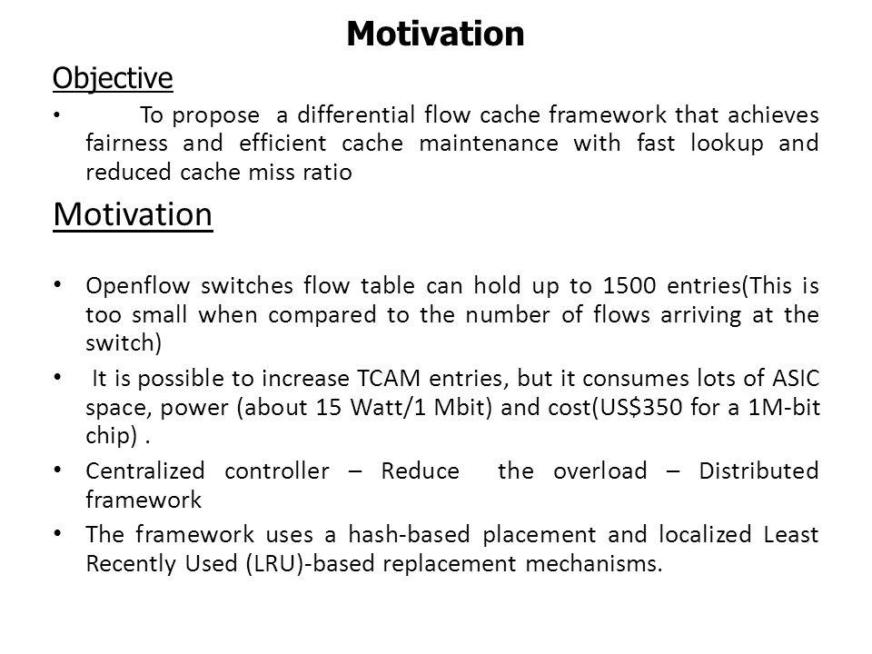 Motivation Motivation Objective