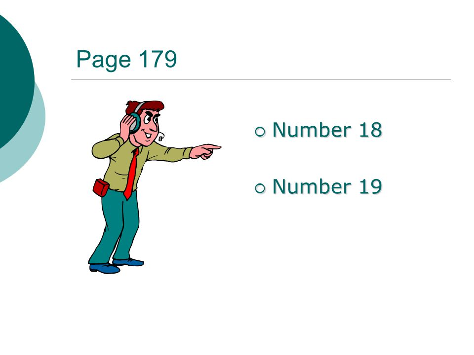 Page 179 Number 18 Number 19