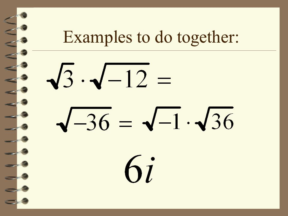 Examples to do together: