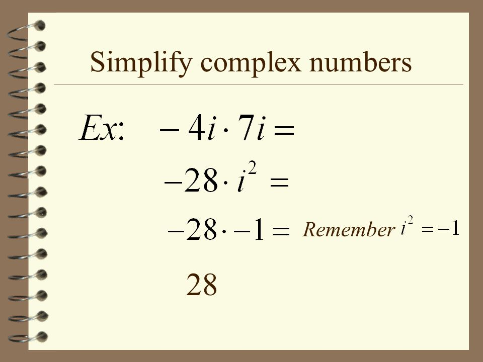 Simplify complex numbers