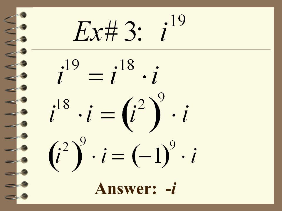 Answer: -i