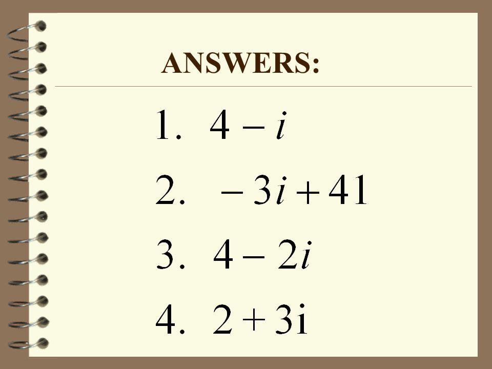 ANSWERS: