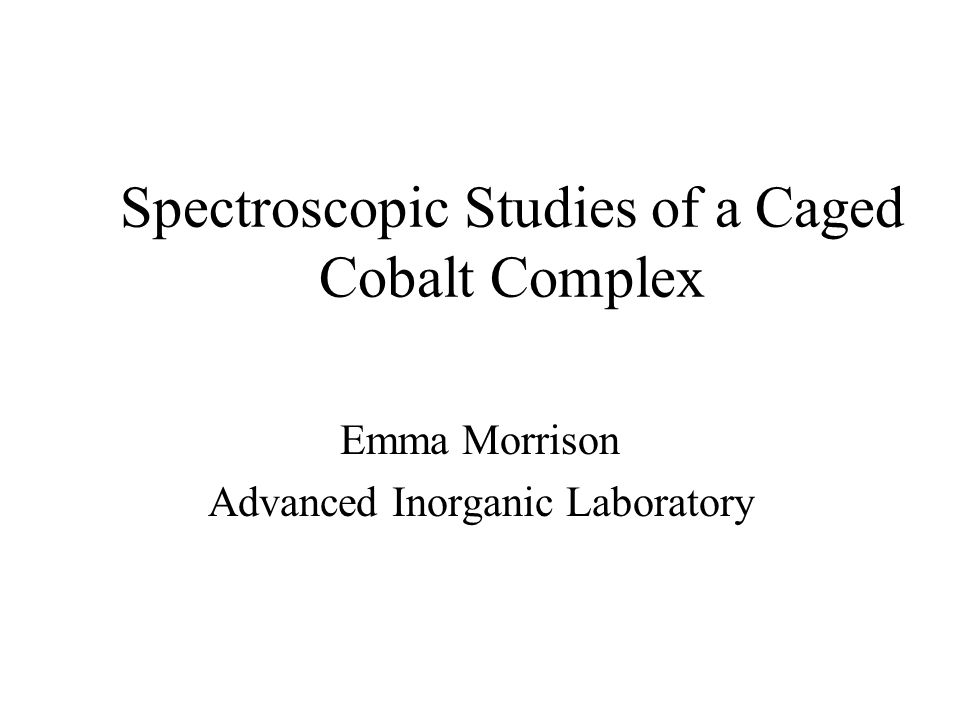 Spectroscopic Studies of a Caged Cobalt Complex