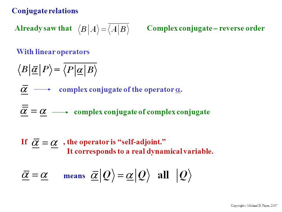 Complex conjugate – reverse order
