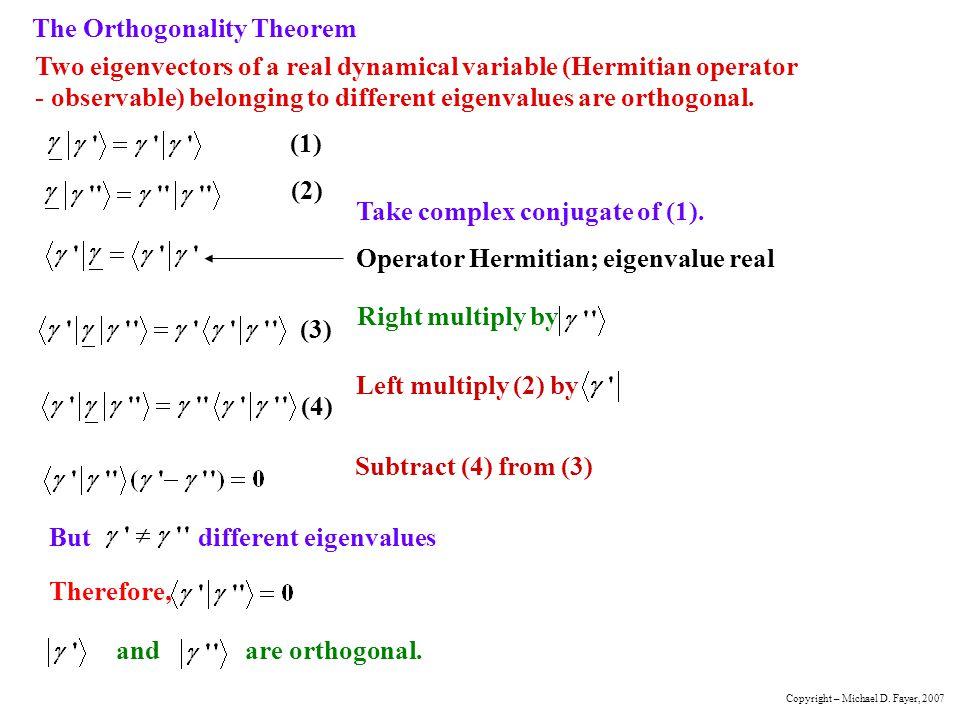 The Orthogonality Theorem