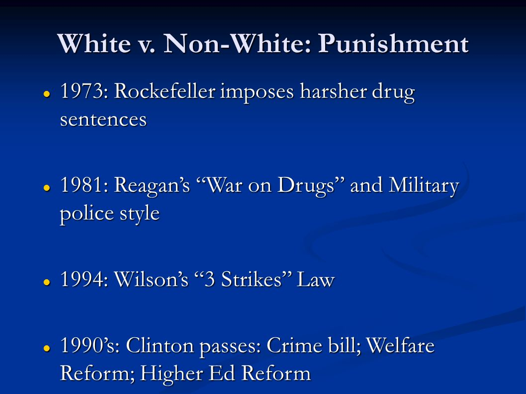 White v. Non-White: Punishment