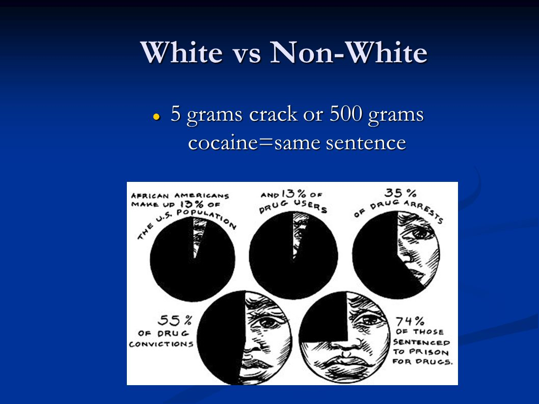 5 grams crack or 500 grams cocaine=same sentence