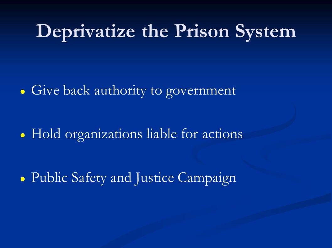 Deprivatize the Prison System