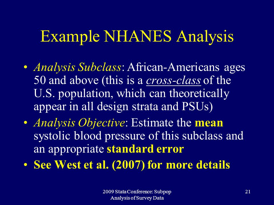 Example NHANES Analysis