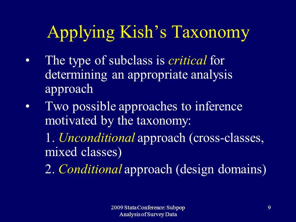 Applying Kish's Taxonomy