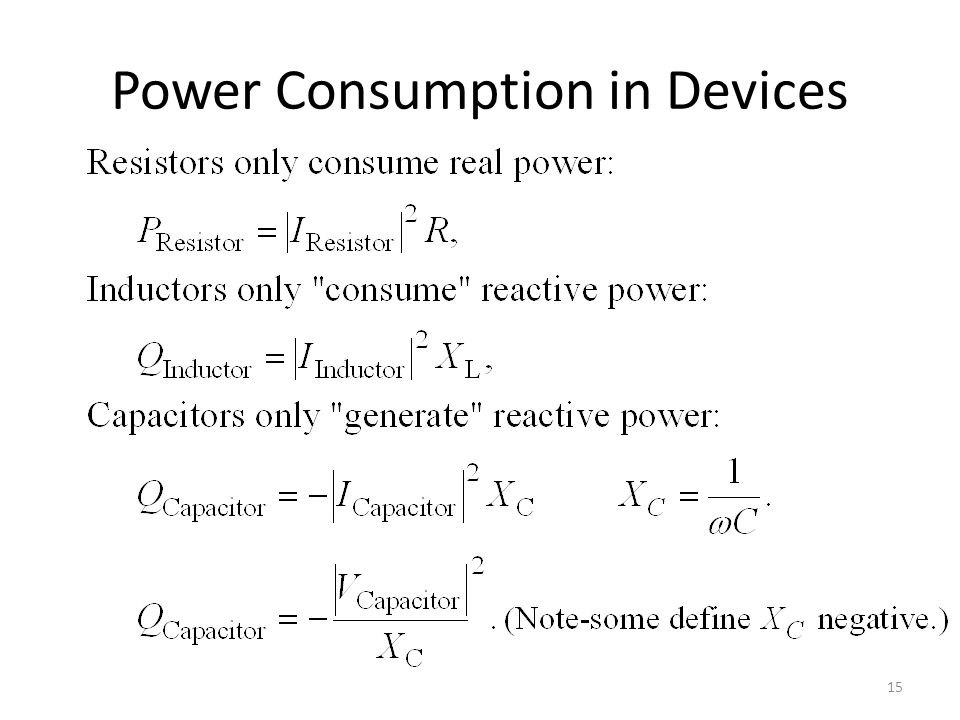 Power Consumption in Devices