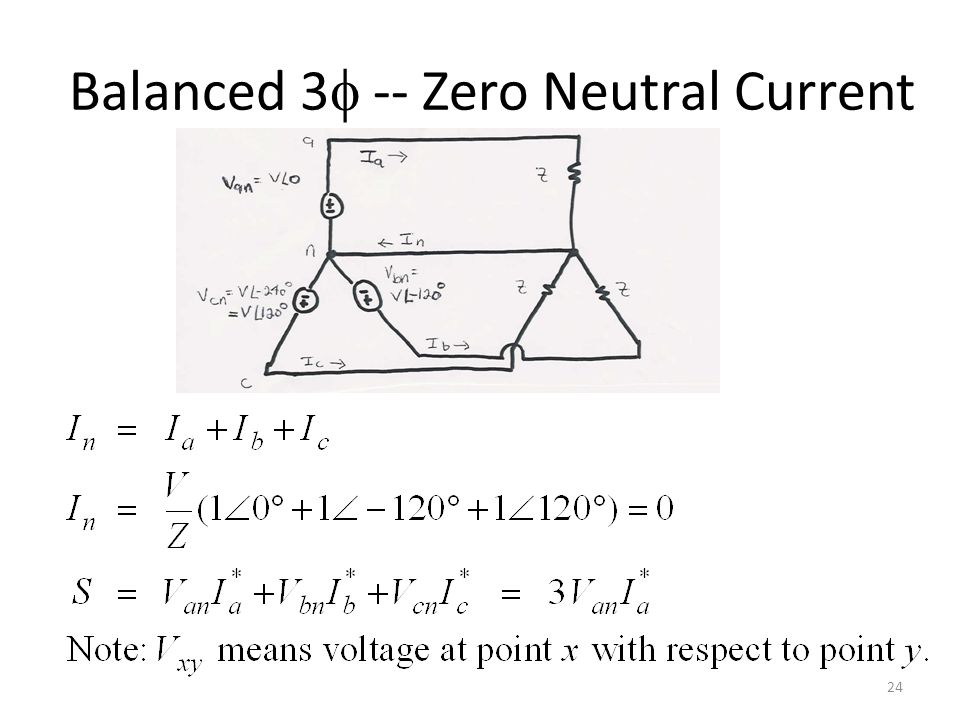 Balanced 3 -- Zero Neutral Current