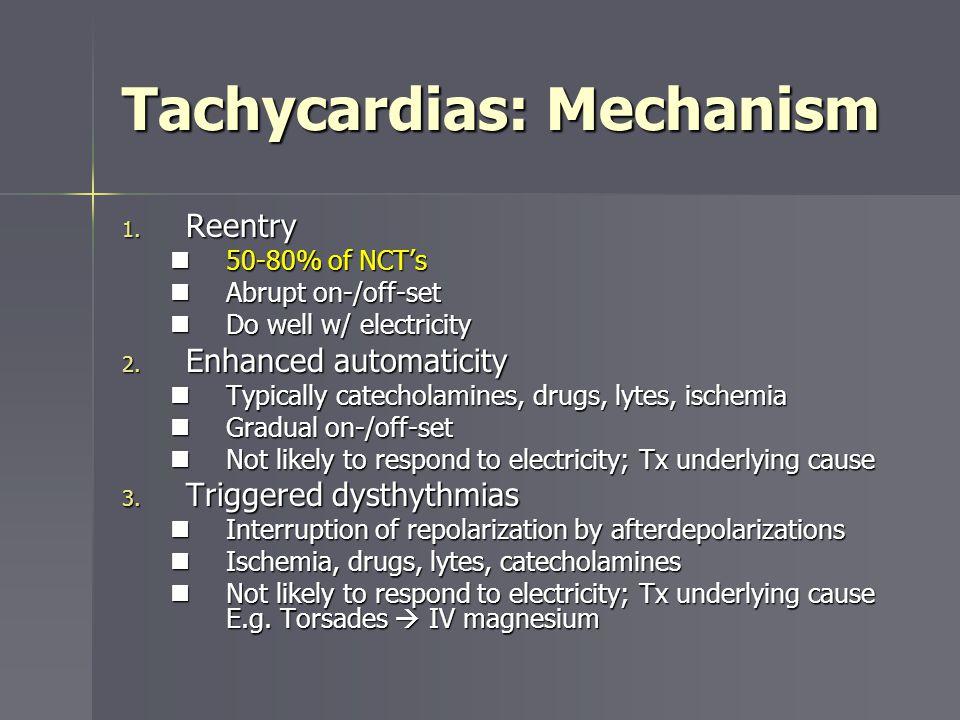 Tachycardias: Mechanism