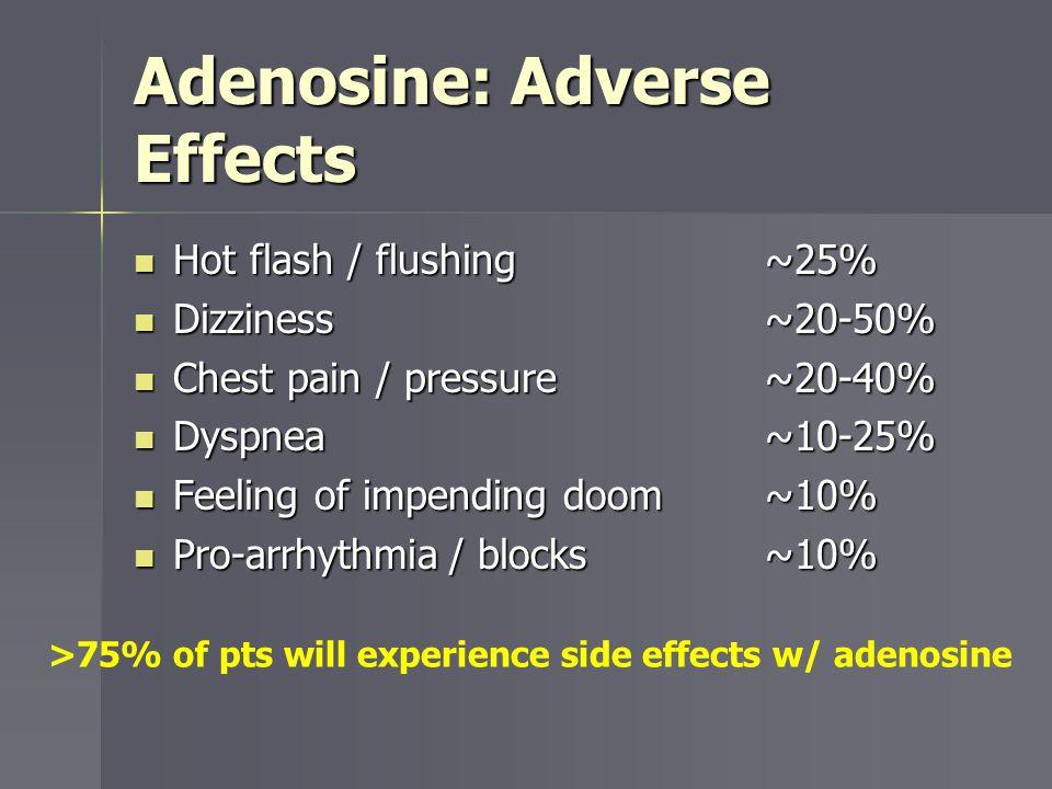 Adenosine: Adverse Effects