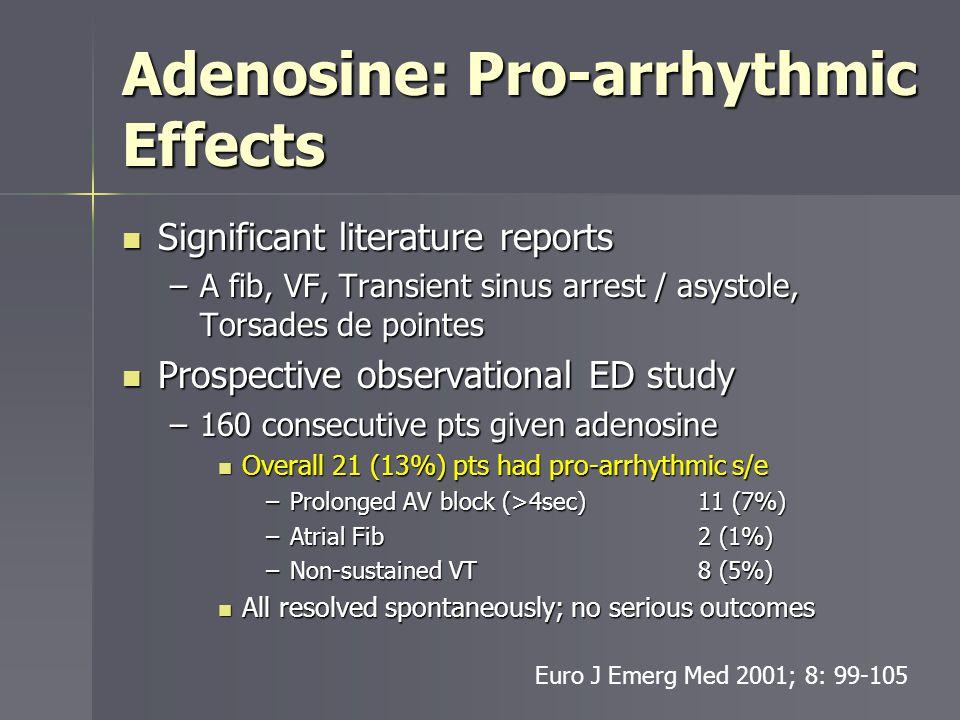 Adenosine: Pro-arrhythmic Effects