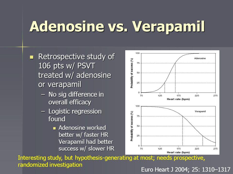 Adenosine vs. Verapamil